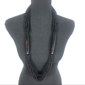 Chunky black headed necklace